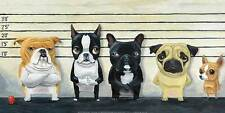 DOG LOVERS ART PRINT pugs bulldogs chihuahuas funny cute animal humor poster