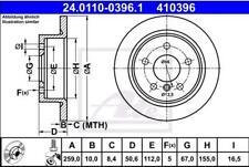 Rear Brake Disc Mini:MINI Cooper 34216799383