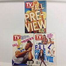 TV Guide - 1990 Fall Previews I, II and III - 3 issues - Free shipping!