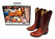 Nocona women's size 7 B Smooth Ostrich cow calf brown cowboy boots