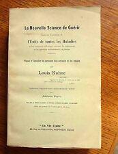 Médecine douce LA NOUVELLE SCIENCE DE GUÉRIR  Louis Kuhne Ed La vie Claire 1962