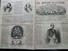 LE MONDE ILLUSTRE 1862 N 279  DON JOSE DE LA CONCHA, MARQUIS DE LA HAVANE