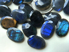 Labradorite Faceted Cabochon 13x18mm Chatoyat  and glowing (one Only)