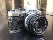 Olympus OM10 35mm Film SLR Camera + Olympus 50mm F/1.8 Zuiko Lens * EX++