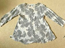 The Masai Clothing Company Floaty Cream/Brown 3/4 sleeve Top Size S (10/12) VGC