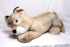 """HUGE 27"""" / 70cm TRUDI Italy Resting LION Lioness CUB Perfect for cuddling! EXC!"""