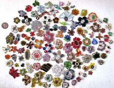 VERY RARE LOT Antique Vintage Sari Saree APPLIQUES 100 PC HANDMADE GLASS BEADS n