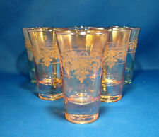 Cordial Shot Glasses Set of 6 Italian J Preziosi Lavorato a Mano Gold @23