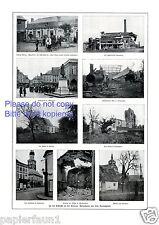Schlacht an der Somme  Fotoabbildungen 1916 Estreés Bapaume Dompierre Combles +