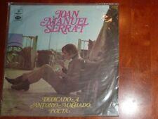 """VINYL LP by JOAN MANUEL SERRAT """"DEDICADO A ANTONIO MACHADO, POETA"""" / IMPORT"""