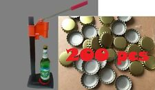 .Manual beer bottle crimping capping sealing machine w/ 200 pcs caps AU Local