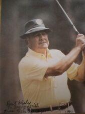 HAND SIGNED PHOTO GOLF LEGEND GENE SARAZEN -WINNER OF CAREER GRAND SLAM-COA