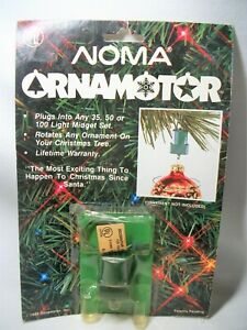 NEW Noma Ornamotor Ornamotion rotating Christmas Ornament motor