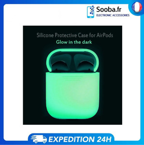 Housse Coque Fluo Protection Apple AirPods Skin Case Airpod Fluorescent Lumineux