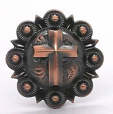 "Cross Berry Concho Antique Copper All Metal 1-1/4"" 1737-10"