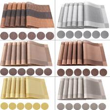 6 Platzsets Platzdeckchen Untersetzer PVC Abwaschbar Platzmatte Tischmatten