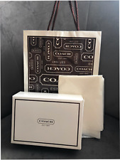 New Coach Gift Box Gift Bag Coach Logo Tissue For small wallet Authentic