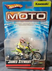 HOT WHEELS MATTEL MOTO X JAMES BUBBA STEWART 2007 KAWASAKI FOX NEW NIP
