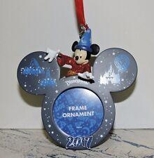 Disneyland 2017 Sorcerer Mickey Ear Hat Frame Ornament Disney Parks NEW