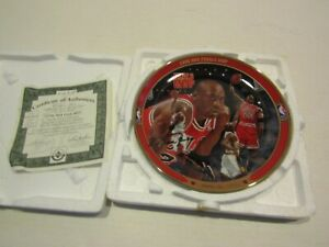 BRADFORD EXCHANGE BASKETBALL PLATE MICHAEL JORDAN 1996 NBA FINALS MVP UPPER DECK