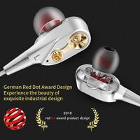 With Mic In-Ear HIFI Super Bass Stereo Earphone Earbuds Headphone Sports Headset