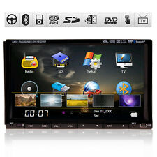 "Sony LENS 7"" 2 Din Car STERE DVD Player GPS Navigation System IPod TV BT USB+MAP"