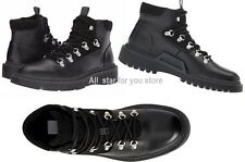 Calvin Klein Mens Boots Raymon Smooth Leather Casual Boots Black Orig$170