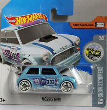 HotWheels Light blue  Mini Cooper Mint on mint USA card