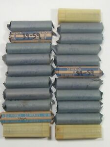 21 Circulated Rolls Jefferson Nickels Mostly 1960's - Some Before.  #39
