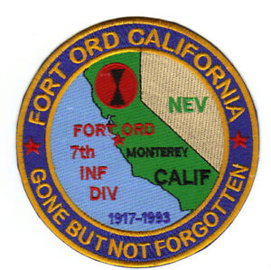 FORT ORD, CALIFORNIA, 7TH INFANTRY DIVISION, 1917-1993       Y