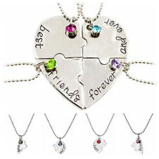 Hot Sale Puzzle Love Heart Friendship Necklace Best Friends Forever And Ever_S5