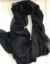 Black Soft Pashmina Style Scarf