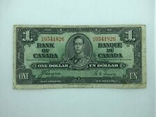 1937 CANADIAN 1 Dollar Banknote.