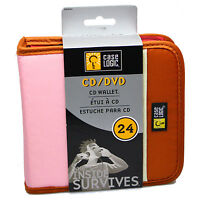 CASE LOGIC CD DVD BluRay Wallet - Storage Carry Case - 24 Disc Capacity - PINK