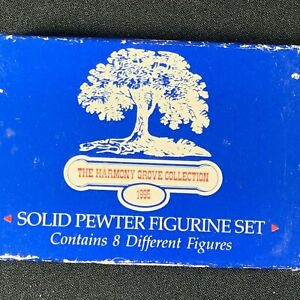 Harmony Grove Collection Solid Pewter Victorian Figurines 7 piece original box