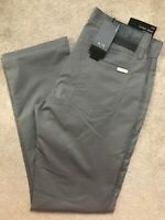 "ARMANI EXCHANGE GREY STRAIGHT FIT TROUSERS PANTS CHINOS 8NZJ16 - 30"" S  NEW TAGS"