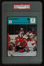 PSA 8 NATIONAL HOCKEY LEAGUE 1978 Sportscaster Hockey Card #27-24