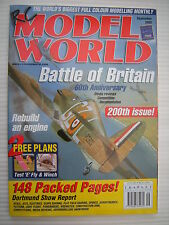 RC Model World - Radio Controlled Aircraft - Sept 2000 Complete with Unused Plan
