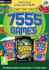7555 GAMES (1000 GAMES 2,3 & 5555) ( PC GAME ) NEW SEALED TRIPLE PLAY COLLECTION