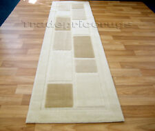 SOFT THICK CREAM BEIGE BROWN HALLWAY RUNNER RUG 60x230
