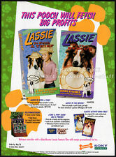 LASSIE - TV Episodes__Original 1994 Trade Print AD / TV series vid promo