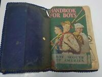 1940's Boy Scouts of America Handbook For Boys BSA Vintage Manual Collectible
