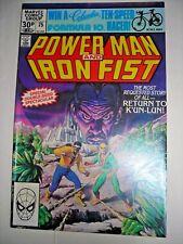 POWER MAN & IRON FIST 75 Marvel Comic NOV 1981 VF BOB LARKIN GLOSSY GIANT 30PNCE