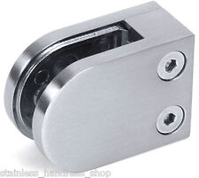 Zintec Steel Metal Glass Clamp for Balustrade, Handrail or Post - Flat Back Clip