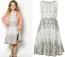 """BNWT """"Creamie"""" GIRLS PRINTED TWO LAYERED COTTON DRESS from DENMARK, AGE 5 YEARS"""