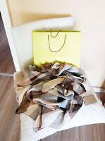 Original Burberry Luxus - Tuch Schal beige SEIDE - Neu ungetragen!