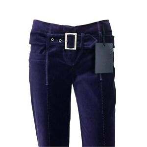RRP $350 Roberto Cavalli Velvet Bootcut Flair Pants Trousers Sizes W24 W26 W28