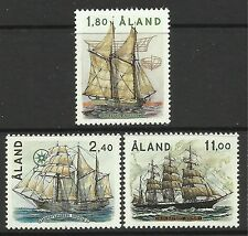 ALAND. 1988. Sailing Ships Set. SG: 32/34. Mint Never Hinged.