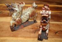 FU-Hunde Wächterlöwe Feng Shui Naturstein Skulptur