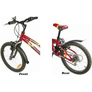 "Zefal Kids Children Bike Mudguard Set Front And Rear For wheel Dia 16"" - 20"""